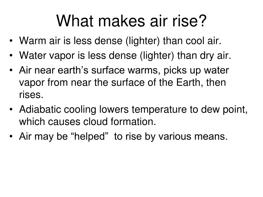 What makes air rise?