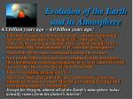 evolution of the earth and its atmosphere2
