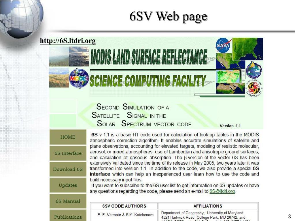 6SV Web page