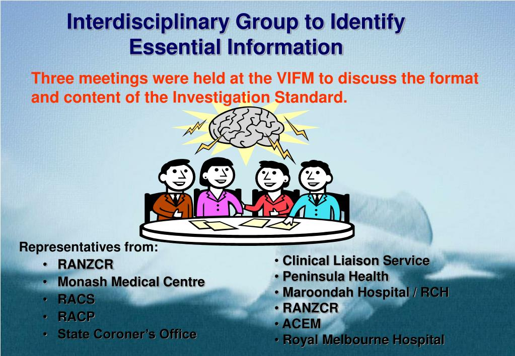 Interdisciplinary Group to Identify Essential Information