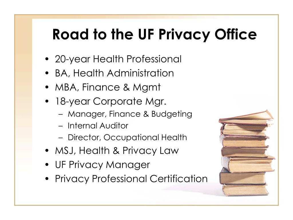 Road to the UF Privacy Office