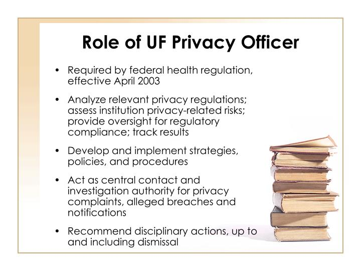 Role of uf privacy officer
