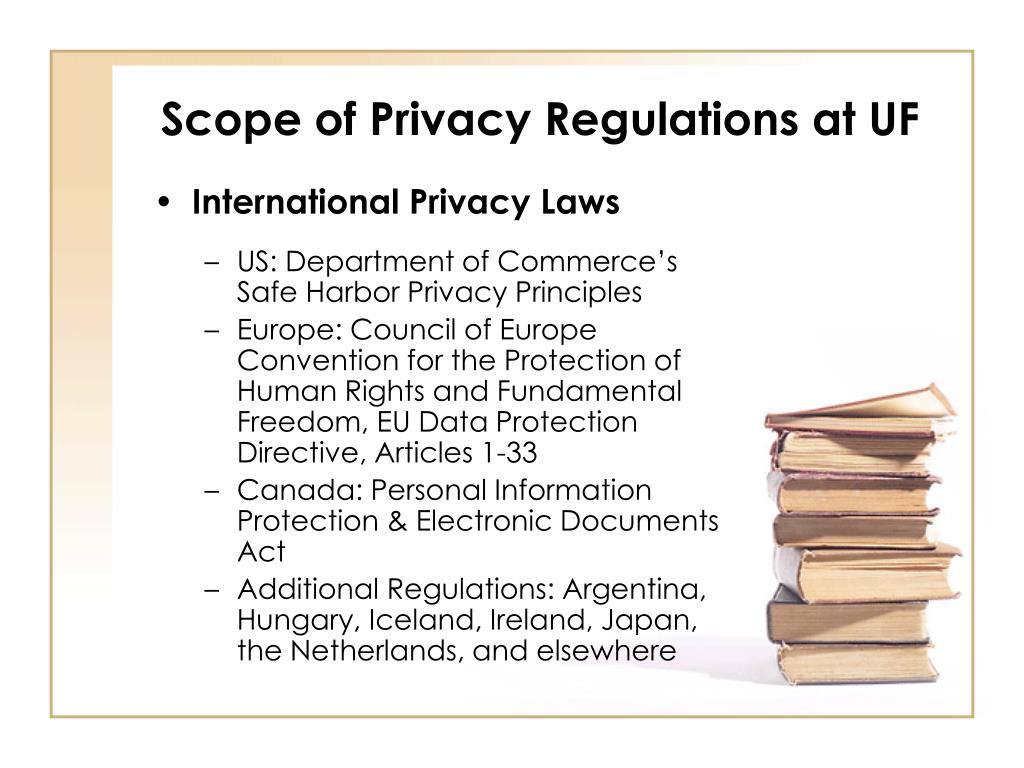 Scope of Privacy Regulations at UF