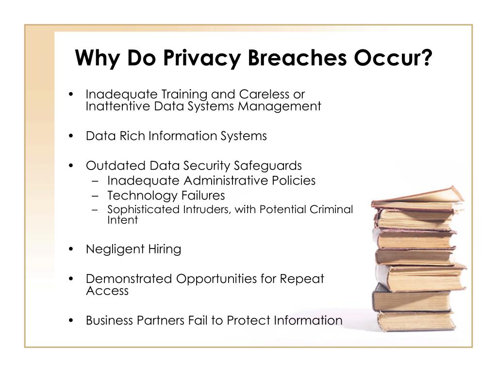 Why Do Privacy Breaches Occur?