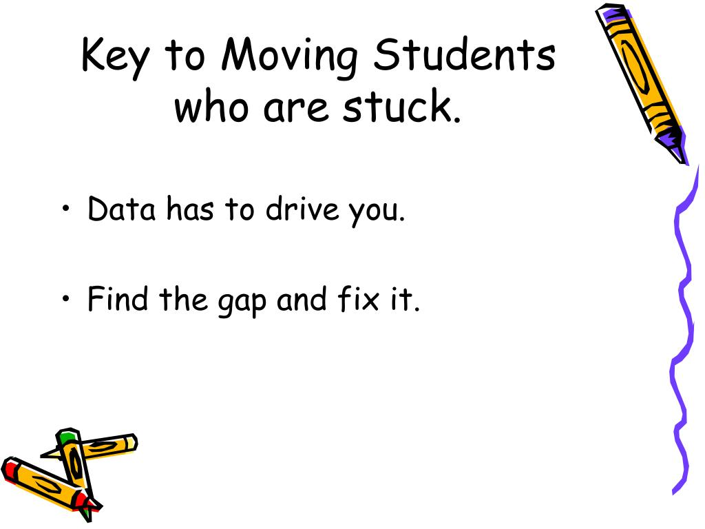 Key to Moving Students who are stuck.