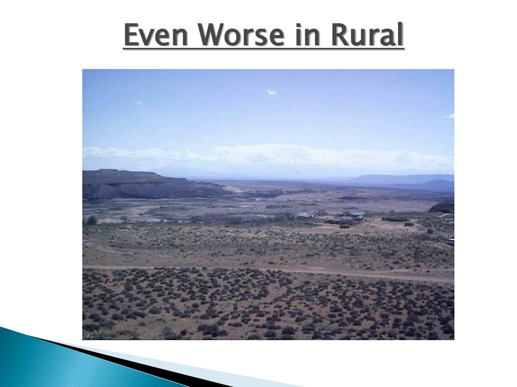Even Worse in Rural