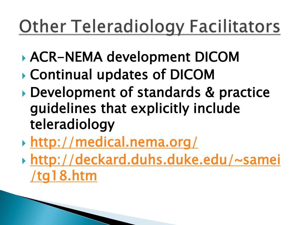 ACR-NEMA development DICOM