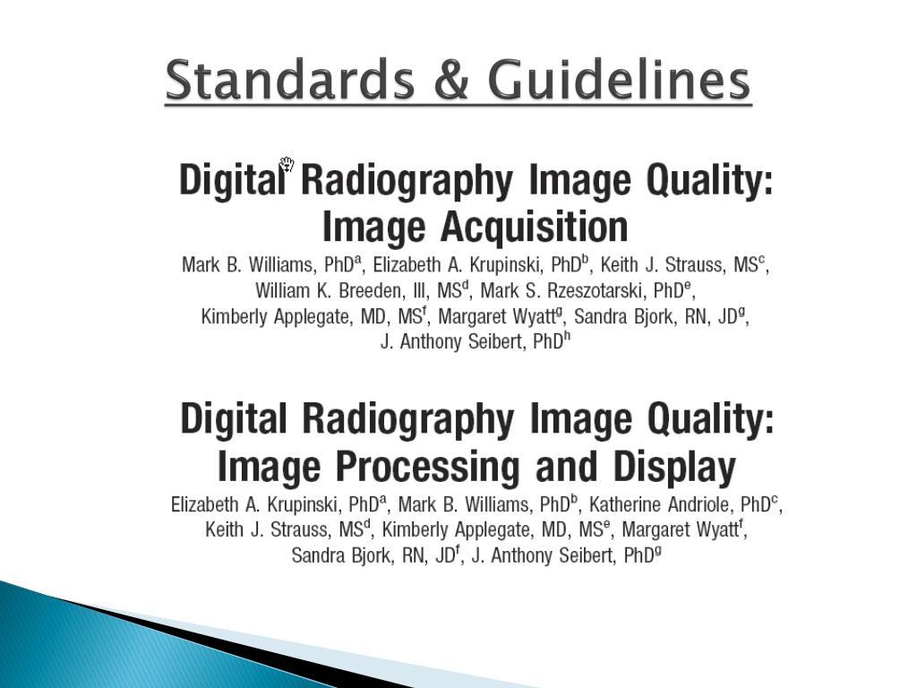 Standards & Guidelines
