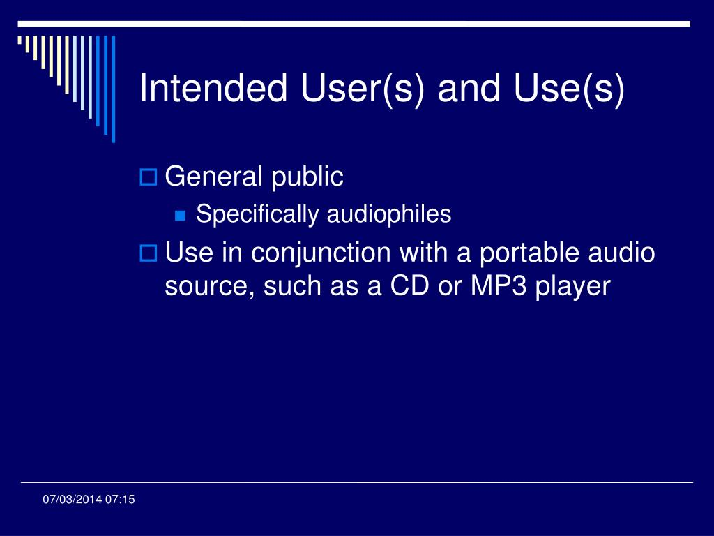 Intended User(s) and Use(s)
