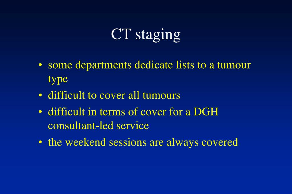 CT staging