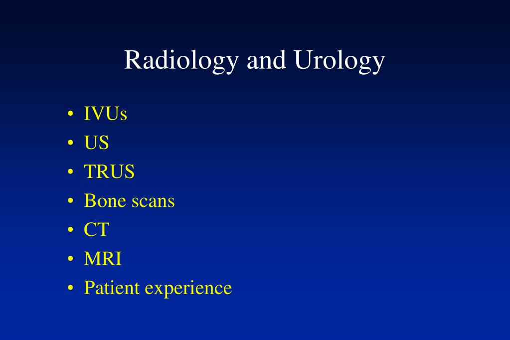 Radiology and Urology