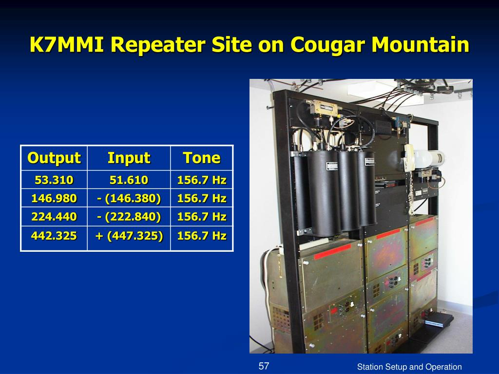 K7MMI Repeater Site on Cougar Mountain