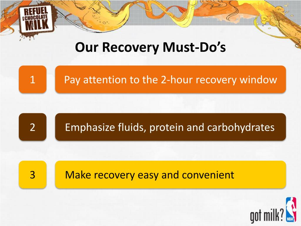 Our Recovery Must-Do's