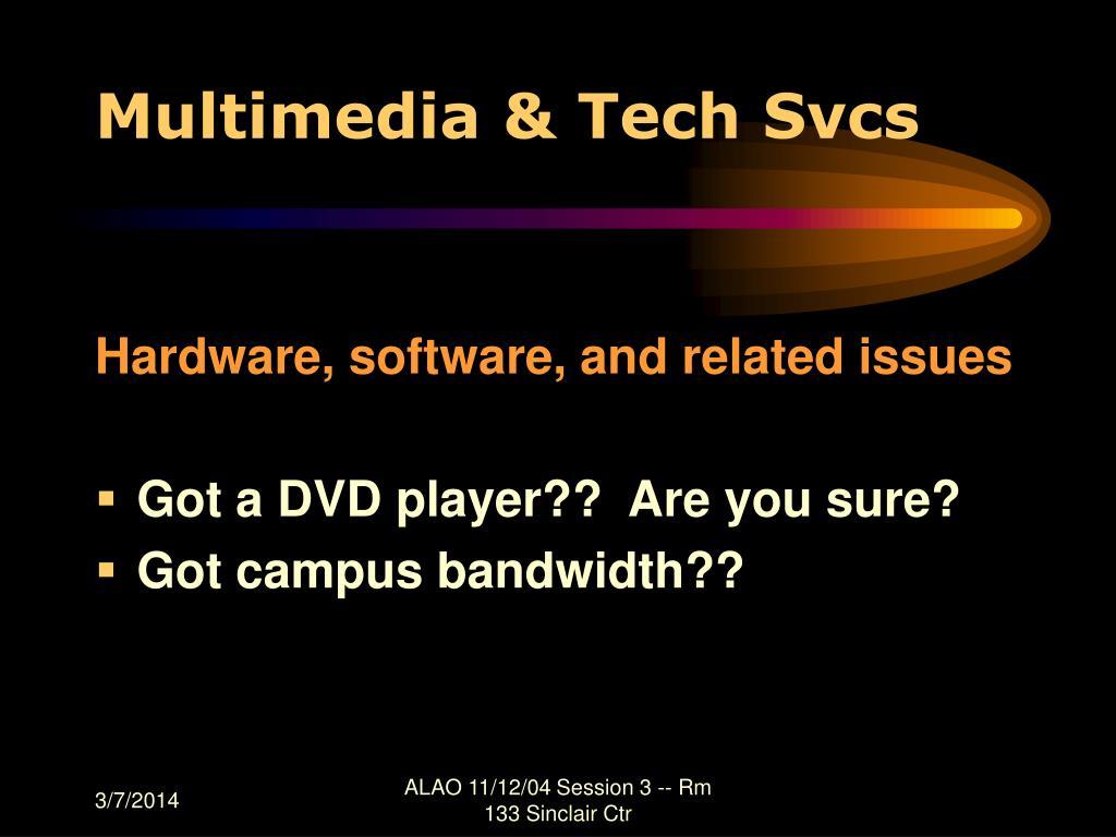 Multimedia & Tech Svcs