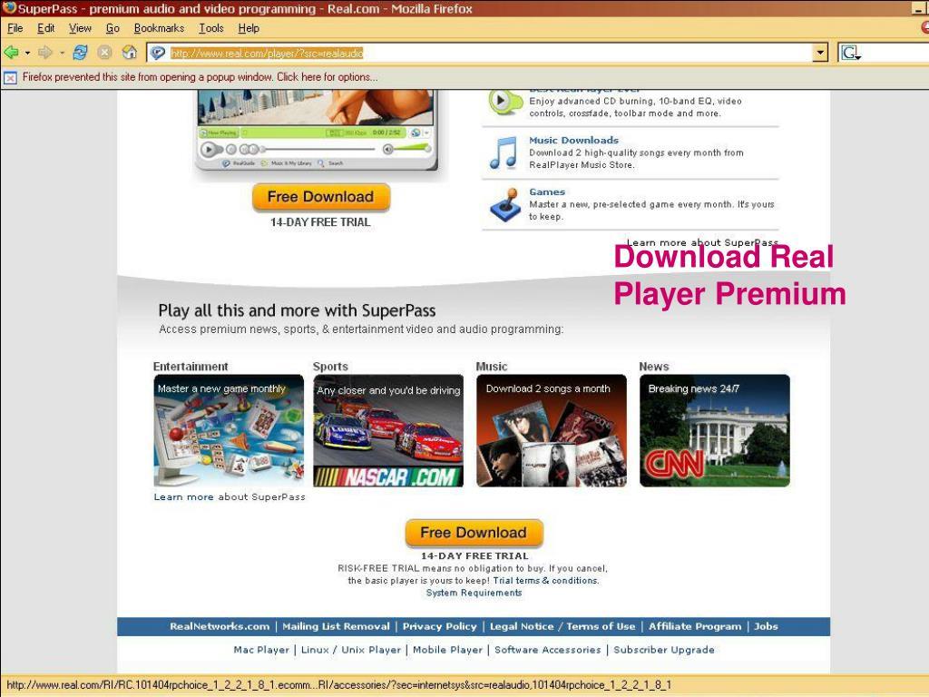 Download Real Player Premium