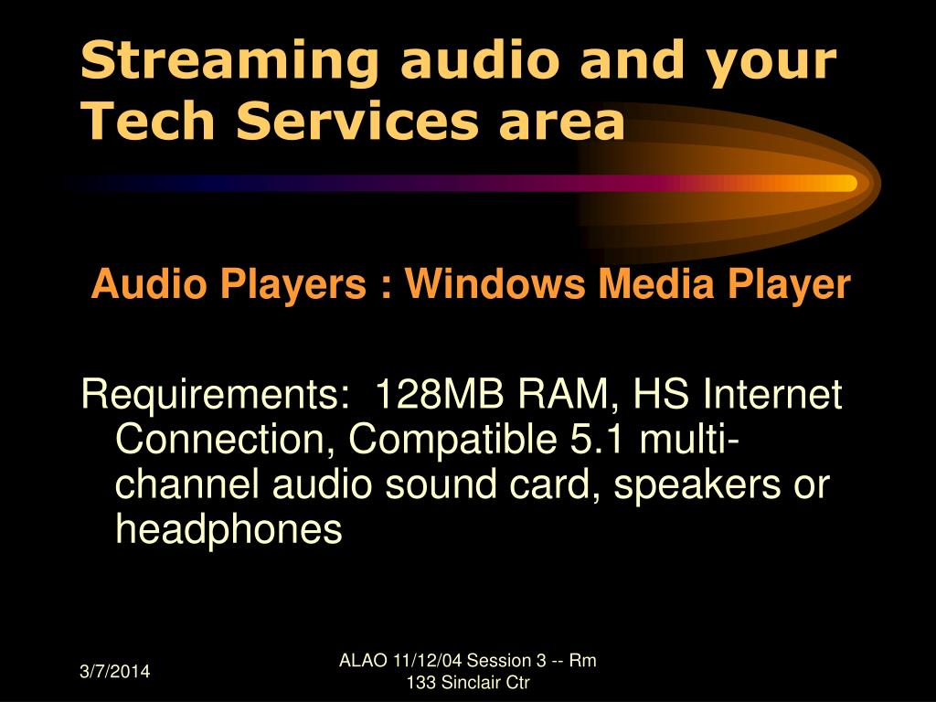 Streaming audio and your Tech Services area
