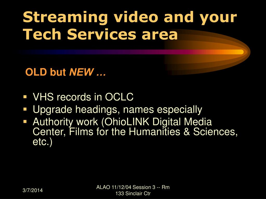 Streaming video and your Tech Services area