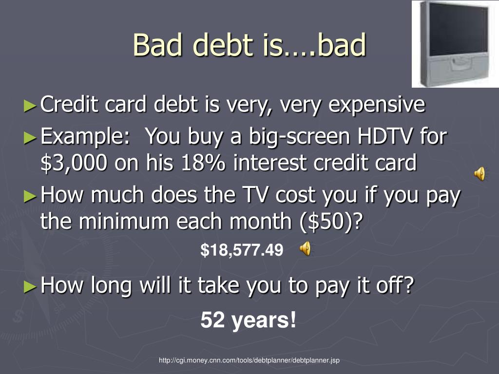 Bad debt is….bad