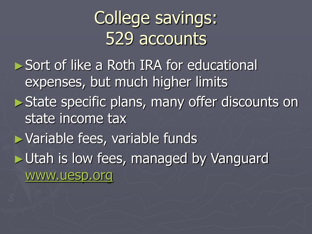 College savings:
