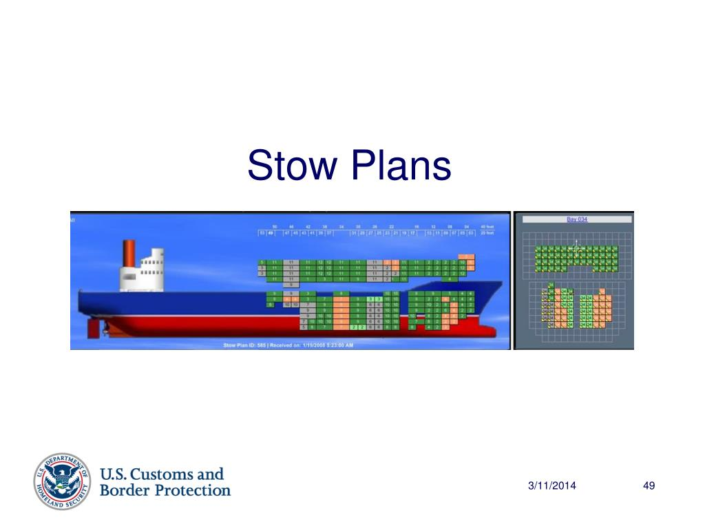 Stow Plans