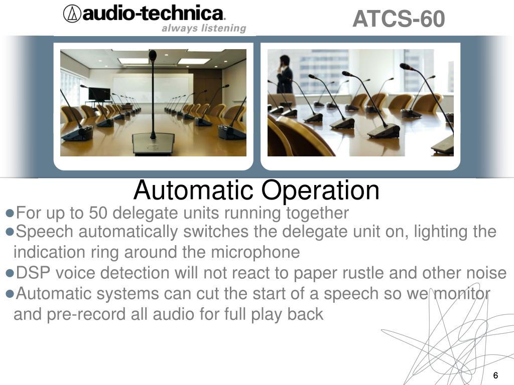 Automatic Operation