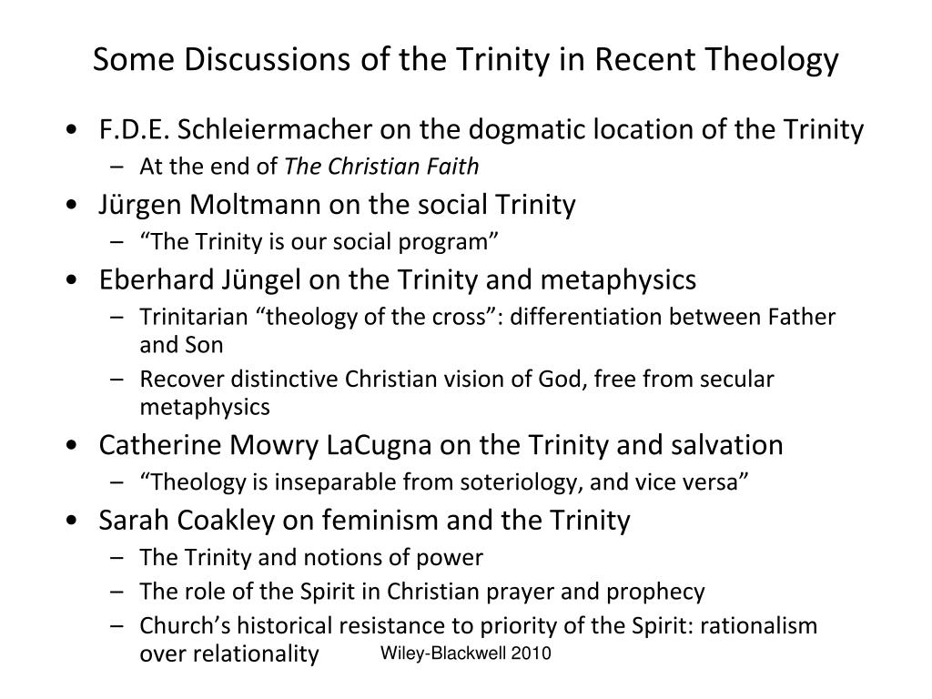 Some Discussions of the Trinity in Recent Theology