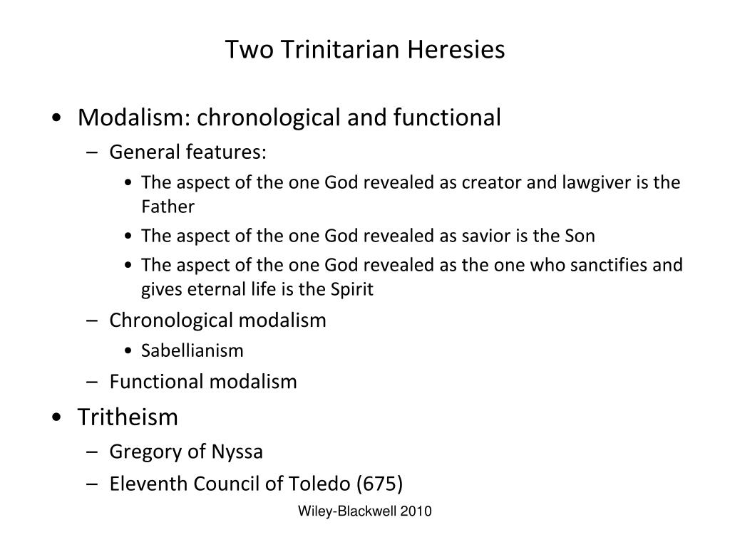 Two Trinitarian Heresies