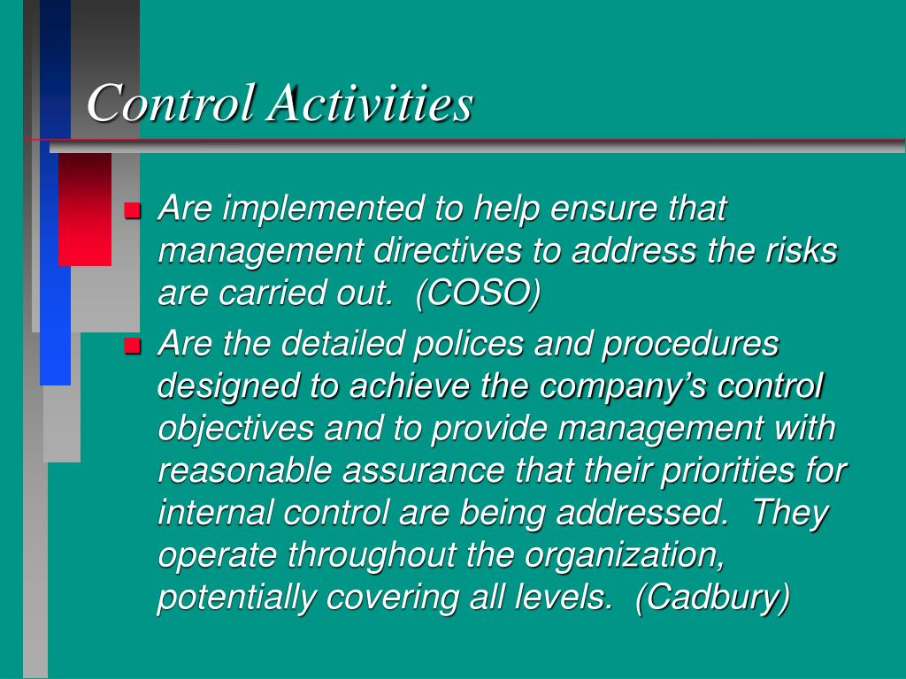 evaluating internal controls Internal control, as defined in accounting and auditing advances in technology and data analysis have led to the development of numerous tools which can automatically evaluate the effectiveness of internal controls.