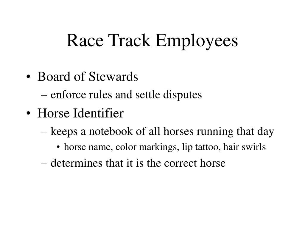 Race Track Employees