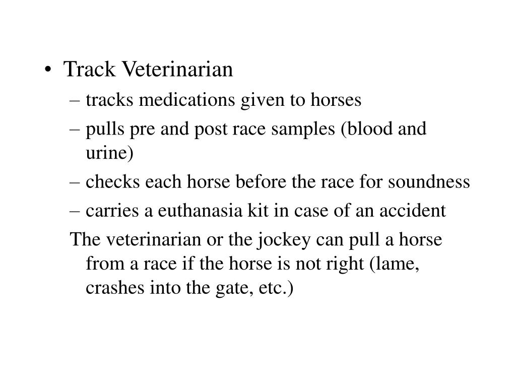 Track Veterinarian
