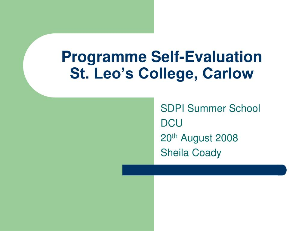 Programme Self-Evaluation