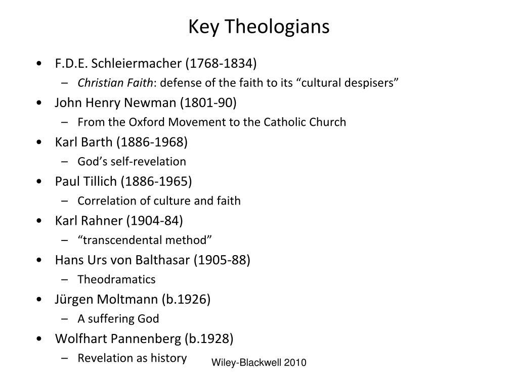 Key Theologians