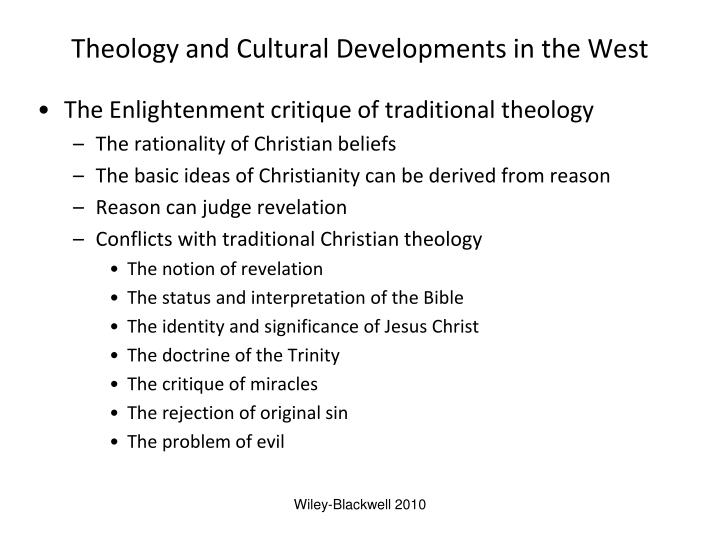 Theology and cultural developments in the west l.jpg
