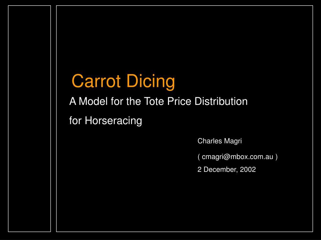 Carrot Dicing
