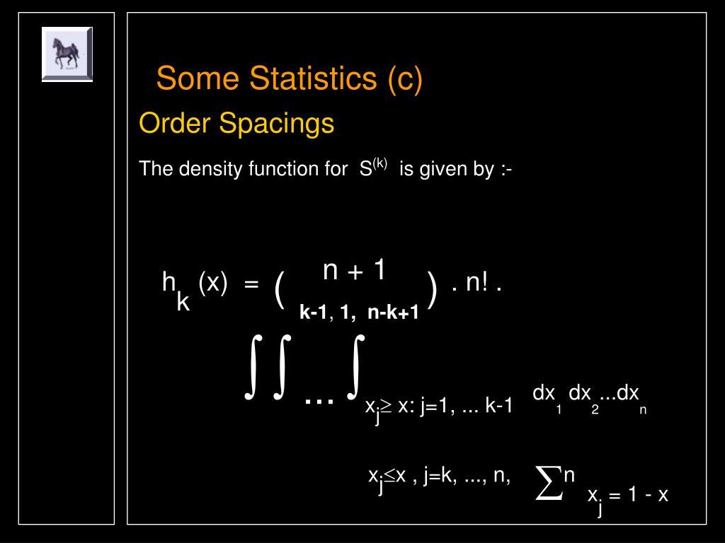 Some Statistics (c)