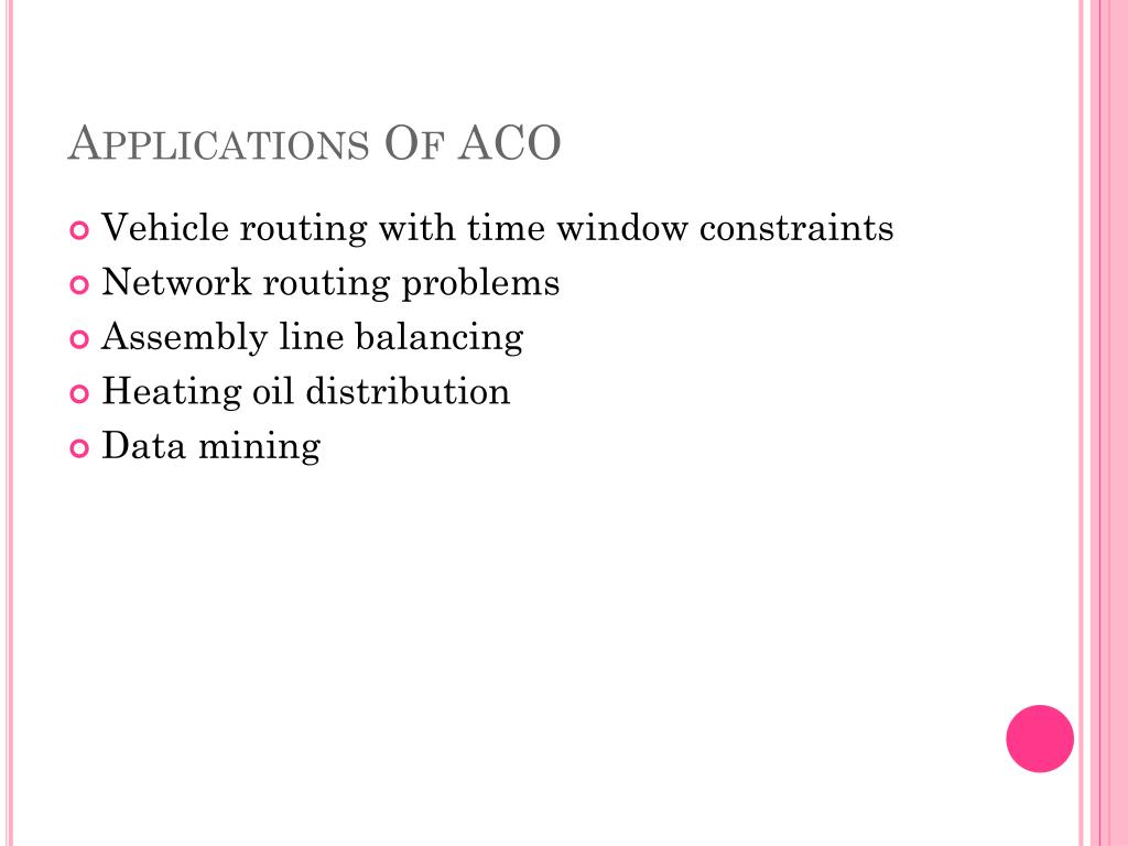 Applications Of ACO