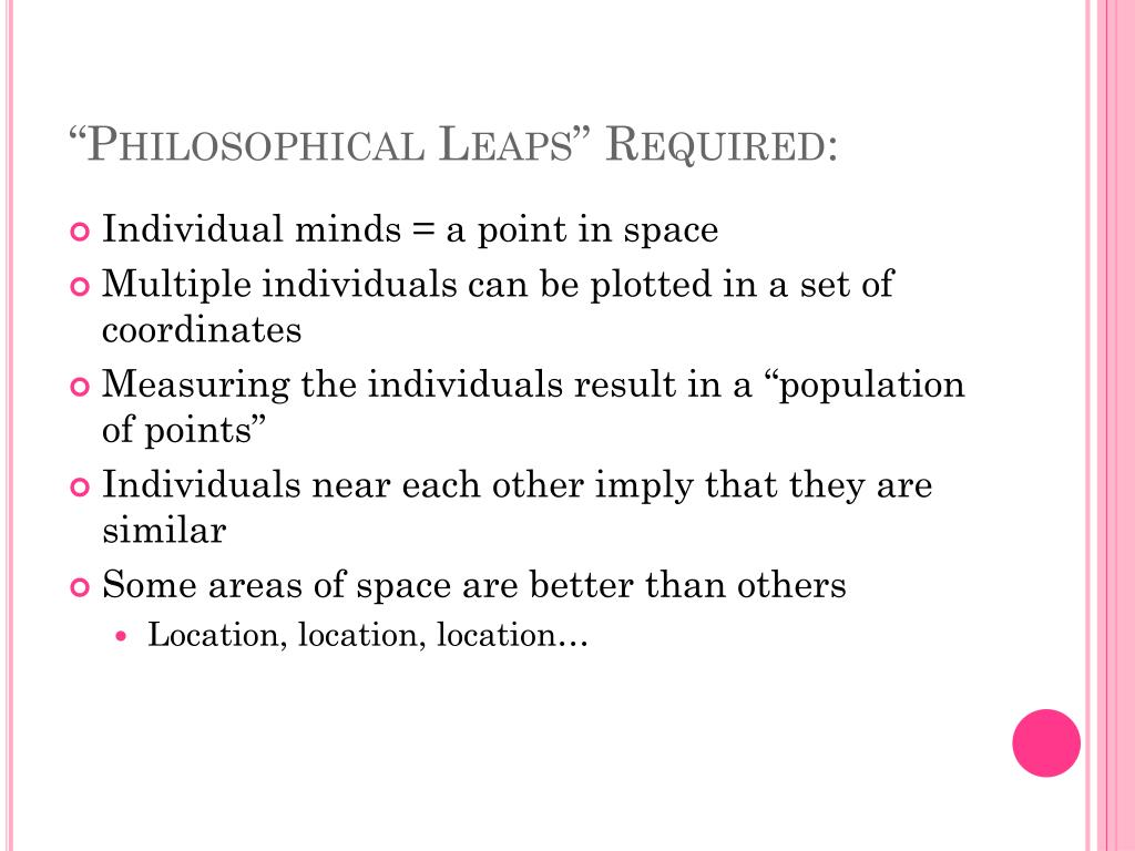 """Philosophical Leaps"" Required:"