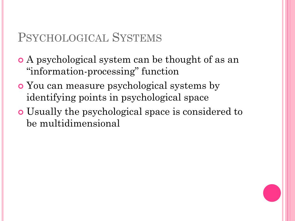 Psychological Systems