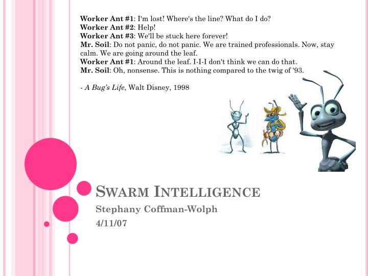 Swarm intelligence l.jpg