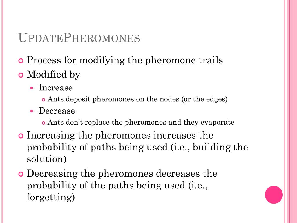 UpdatePheromones
