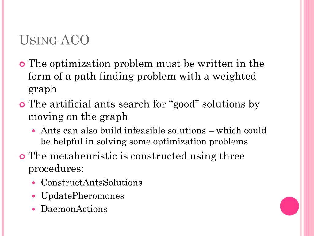 Using ACO