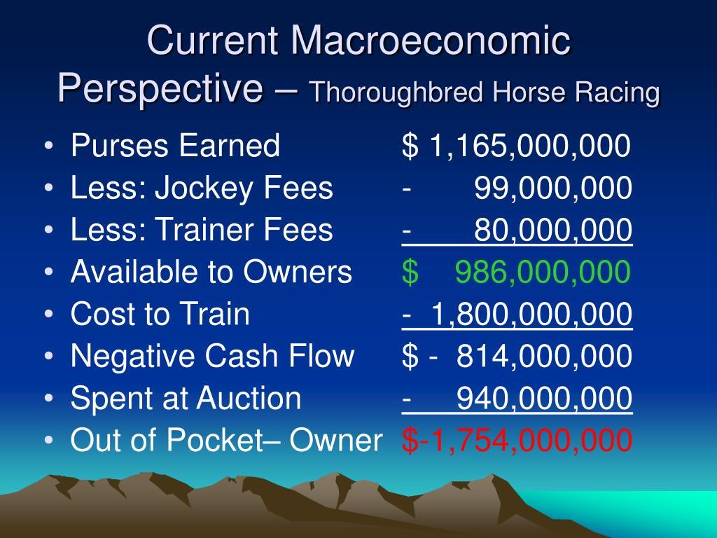 Current Macroeconomic Perspective –