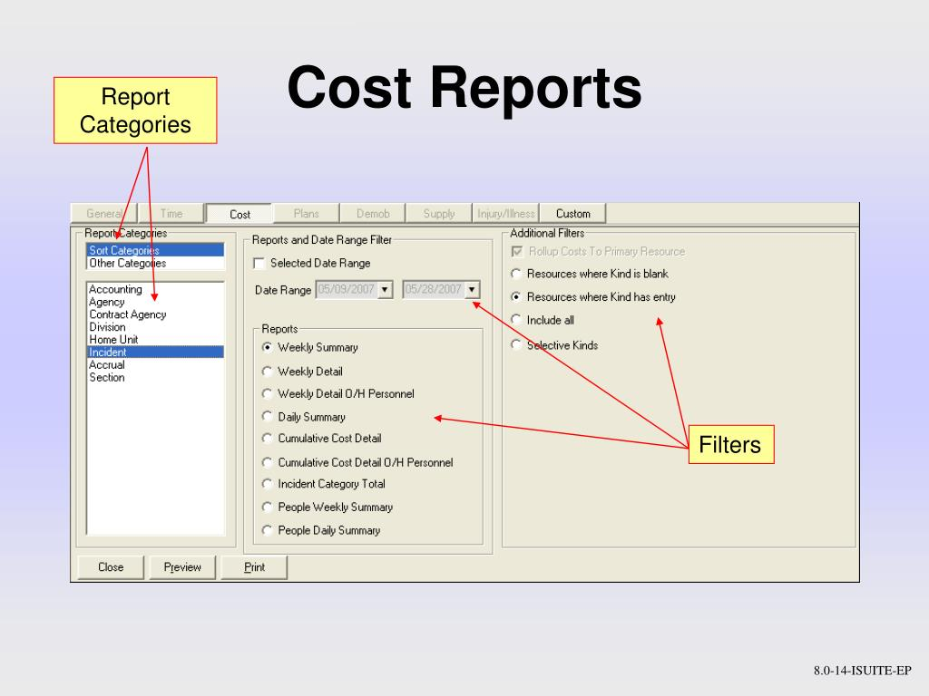 Report Categories