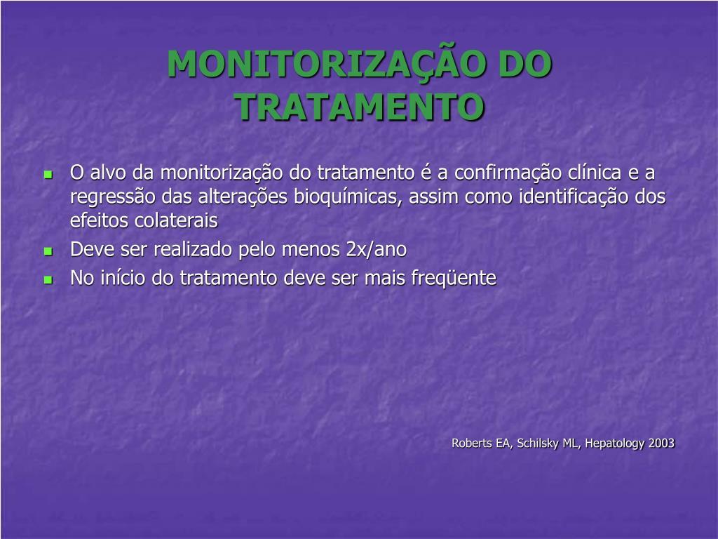 MONITORIZAÇÃO DO TRATAMENTO
