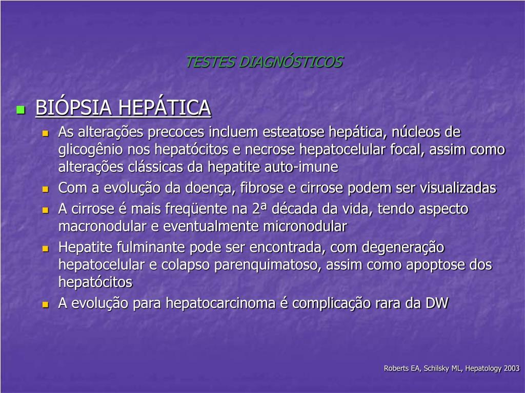 TESTES DIAGNÓSTICOS