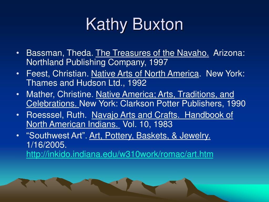 Kathy Buxton