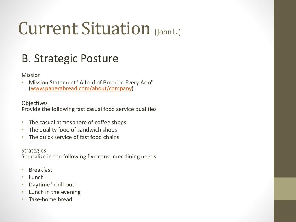 panera bread company audit Panera bread company: alternatives and recommended strategy (case study sample)  weekly case analysis/strategic audit: panera bread company student's name student's day phone number student's evening phone number letourneau university busi4763 global management strategy  panera bread company: environment, opportunities, threats.