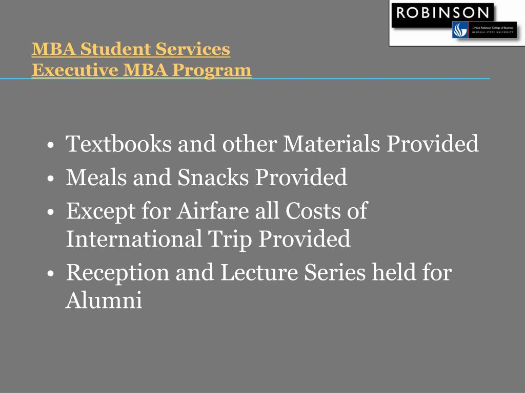 MBA Student Services
