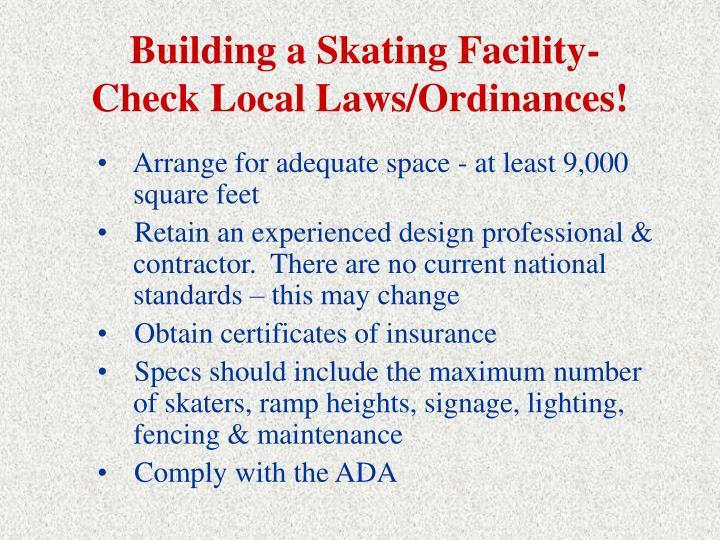 Building a Skating Facility-