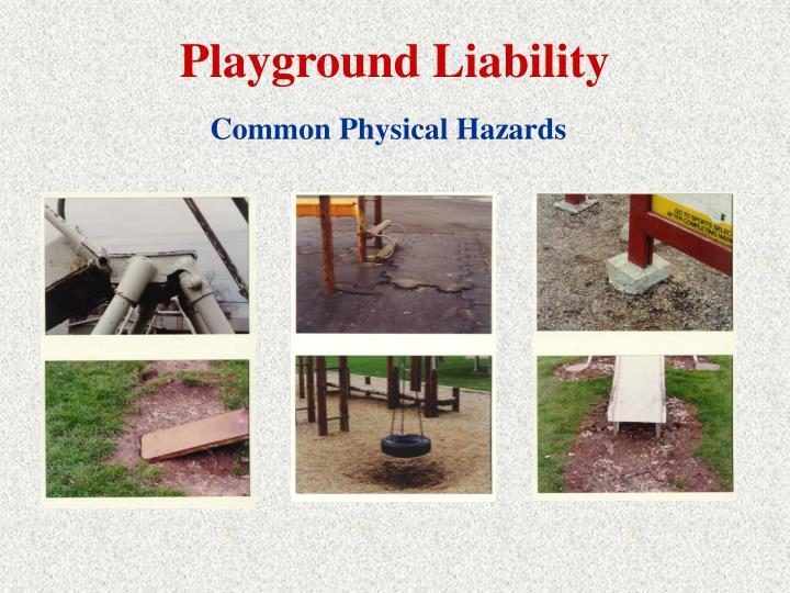 Playground Liability